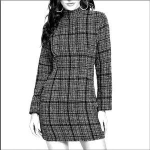 H&M Women's Tweed With Slight Sequin Sheath Dress.